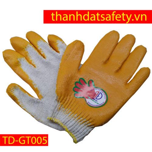 GĂNG TAY AN TOÀN PHỦ NHỰA VÀNG TD-GT005
